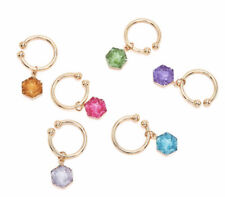 Joshua Steinberg Bacchus Crystal Wine Charms *NEW* Set Of 6      MSRP $65