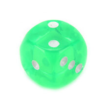 10pcs Square Transparent Dice Acrylic Craps Casino Bar Toy Game 14mm T Fluorescent Green