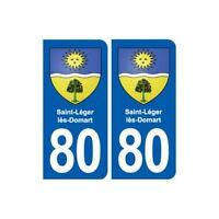 80 Saint-Léger-lès-Domart blason autocollant plaque stickers ville