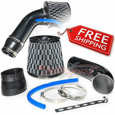 "2.5-3.0"" UNIVERSAL COLD AIR Intake INDUCTION HOSE KIT System + Cone Filter BLACK"
