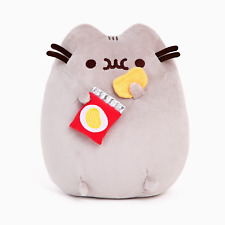 Pusheen The Cat with Chips Gund Cute Soft Plush Animal Toy 24cm **FREE DELIVERY*