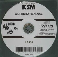 KUBOTA LA434 LOADER SERVICE SHOP REPAIR WORKSHOP MANUAL CD