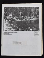 1989 WYOMING OUTFITTERS ASSOCIATION NEWSLETTER