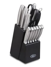 Best Oster Baldwyn Cutlery Block Set Knife 14 PC Stainless Steel Kitchen Knives