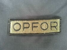 Army Green OPFOR Patch Opposition Force