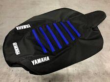 Yamaha Raptor 250 Seat Cover 2008 - 2013 ALL BLACK / BLUE RIBS by Enjoy Mfg #221