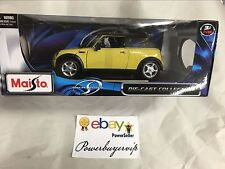 NEW Maisto MINI COOPER 1/18 SCALE DIECAST MODEL CAR BY MAISTO YELLOW  2 DAY GET