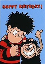 BEANO GREETING CARD: DENNIS THE MENACE AND GNASHER HAPPY BIRTHDAY - NEW IN CELLO