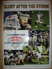 New Orleans Saints 31 Indianapolis Colts 17 - 2010 Super Bowl - souvenir print