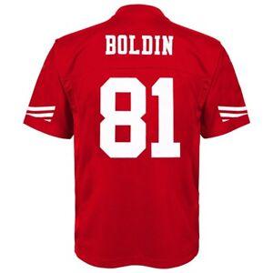 Anquan Boldin NFL San Francisco 49ers Mid Tier Replica Home Jersey Boys (4-7)