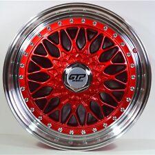 4xGTP 040 Alufelgen 7,5x17 4x100 4x108 ET35 Candy Red Rot BBS RS style Honda KIA