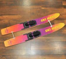 "Ski Nash Water Kids Junior 46"" Connected Training Wooden Water Skis"