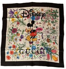 Disney Gucci Silk Scarf Mickey Mouse Flora Print.READ DESCRIPTION!