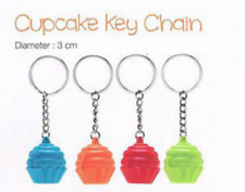 Tupperware Cupcake Keychains Set of 4 Collectible Orange Red Blue Green New