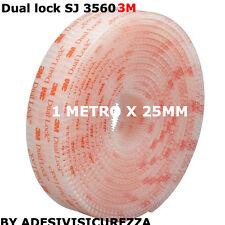 Dual lock SJ 3560 3M velcro adesivo 25mm x 1 Metro GOPRO TELEPASS CRUSCOTTO PRO