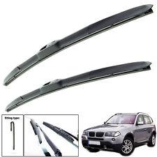 """BMW X3 2004-2010 hybrid wiper blades set of front 22""""20"""""""