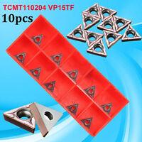 10x TCMT110204 VP15TF/TCMT21.51 Carbide Inserts CNC Blade Lathe Turning Tool+Box