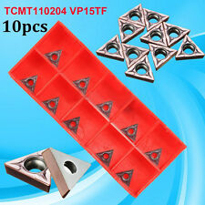 10X TCMT110204 VP15TF / TCMT21.51 Carbide Inserts CNC Blade Lathe Turning Tool..