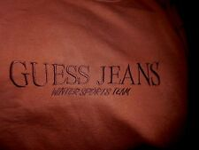 Vintage GUESS JEANS Winter Sports Team Sweatshirt-S, brown/hint of rust