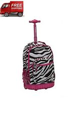 Carry On Luggage With Wheels Rolling Backpack For College High School Teens Girl