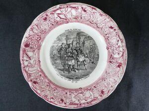 Assiette Parlante en faiences de GIEN decor rouge HISTOIRE DE JEANNE D'ARC nº10