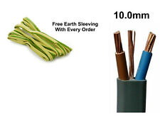 10mm Electrical Electric Cable Wire Twin and Earth Domestic Cooker Shower T&E