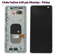 OEM SILVER WHITE SONY XPERIA XZ3 H8314 H9436 OLED LCD SCREEN DISPLAY FRAME