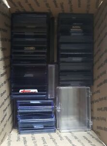 230 SPORTS CARD PROTECTORS LOT Rigid Top Loaders, Cases, Screw-Down Holder Used