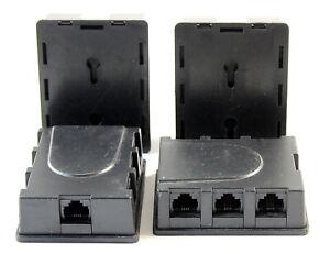 4x ISDN RJ45 1-6 / ISDN-Verteilerbox 6-fach / inkl. MwSt.