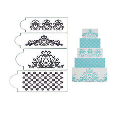Princess Lace Cake Stencil Set, 4 pieces