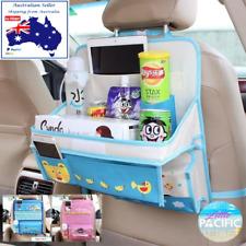 BLUE Kids Car Seat Organiser w/ fold down tray **AUSSIE STOCK - FAST Dispatch**