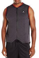 New Men's Adidas Full Zip ABL Utility Black Basketball League Vest L