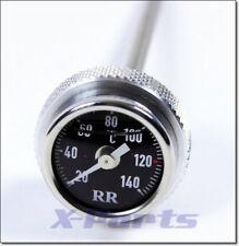 RR temperatura del Aceite Indicador Termómetro de DIRECTOS NEGRO APRILIA viento