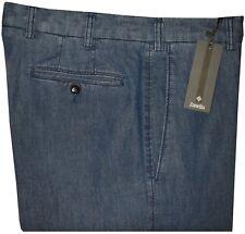 $395 NEW ZANELLA TODD INDIGO CHAMBRAY KHAKI CASUAL CHINO DRESS PANTS 32 33