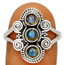 Labradorite - Madagascar 925 Sterling Silver Ring Jewelry s.9 BR55434 208H
