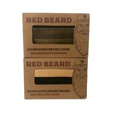 Sandalwood Beard Comb and Boar Bristle Brush Grooming Kit