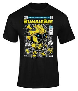 Bumblebee Comic Book Poster T-Shirt Adults Novelty Funny Shirt Top Gift For Men