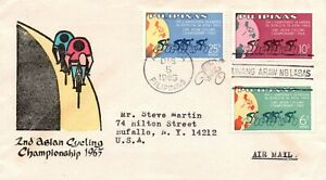 Philippines 1965 2nd Asian Cycling Championship Issue FDC - HandColored - L32528