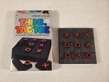 Vtg 1984 Think Tac Toe Pressman #113 Solitaire Tile Game Fit Pieces Top Form