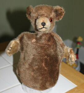 Very old mohair bear hand puppet Steiff? 9 inch with no tags
