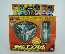 Bandai Timeranger Power Rangers Time Force Badge Time Emblem & Frozen Capsule