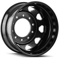 """Ionbilt IB02 Rear 24.5x8.25 10x285.75 +168mm Black/Milled Wheel Rim 24.5"""" Inch"""