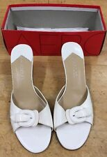AEROSOLES FIRST GLASS WHITE COMBO size 9 B shoes Heels