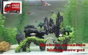 fish tank landscaping   rockery mountain hiding cave pet  stone FREE SHIPPING