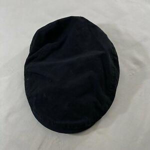 Cremieux 38 Collection  Hat Cabbie Newsboy Cap Black Driver Men's S/M