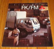 Original 1991 Mitsubishi Fuso FK FM Truck Sales Brochure