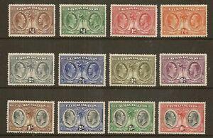 CAYMAN  ISLANDS 1932 CENTENARY SG84/95 HINGED MINT