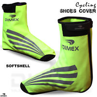 Cycling Shoe Cover Water Resistant Windproof Softshell Outdoor Overshoe Hiviz