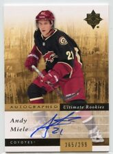 11/12 UPPER DECK ULTIMATE ROOKIE AUTOGRAPH AUTO #142 ANDY MIELE 265/299 *46019