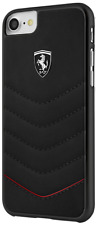 Ferrari Heritage Black Quilted iPhone 7/8 PLUS Leather Case